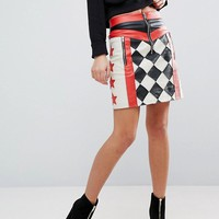 ASOS Motocross Mini Leather Skirt at asos.com