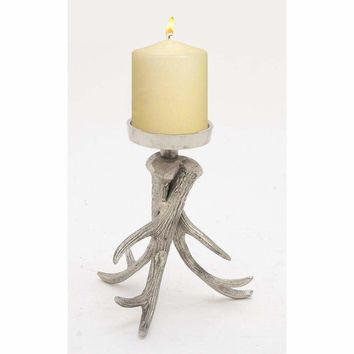 Artistic Aluminum Antler Candle Holder