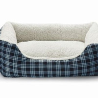 """Small PET Puppy Dog Cat Warm Soft  Cozy Pet Bed Pad House Navy Blue   21"""" X 16"""""""