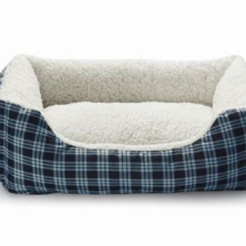 "Small PET Puppy Dog Cat Warm Soft  Cozy Pet Bed Pad House Navy Blue   21"" X 16"""