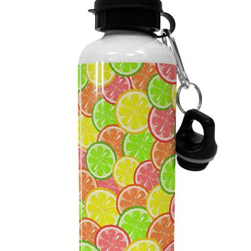 Colorful Citrus Fruits Aluminum 600ml Water Bottle All Over Print