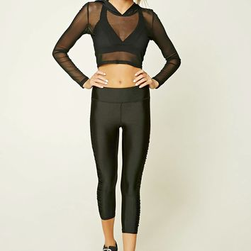 Active Ruched Capri Leggings