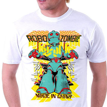 Mens Zombie Tee |Mens Robot T shirt | Mens Zombie Gifts | Mens T shirts | Mens Monster Shirts | Mens Skater Tee | Cool Shirts