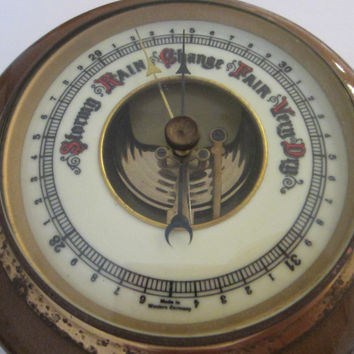 Western Germany Porcelain Face Wall Barometer