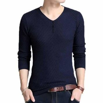 Mens Thicken Thermal Knitted Sweater