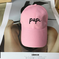 PAPI Black Pink White - Baseball Cap, Tumblr hat , Dad Hat Dad Cap Baseball Hat Baseball Cap , Low-Profile Baseball Cap Hat