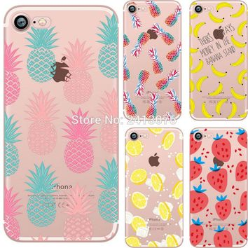 Pineapple iPhone Case - Banana, Strawberry Fruit For iphone 7 6 6S 8 plus 5S SE X