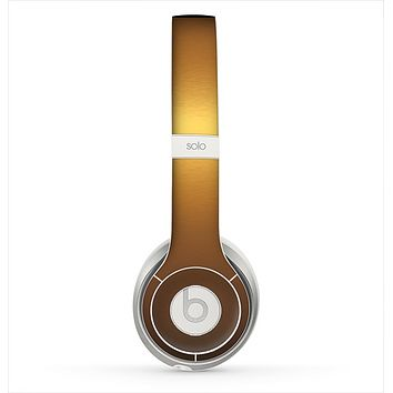 The Gold Shimmer Surface Skin for the Beats by Dre Solo 2 Headphones