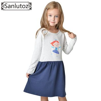 Toddler Girls Dress 2017 Kids Clothes for Girls Children Clothing Cotton Long Sleeve Fashion Brand Fairy Cute Princess Party