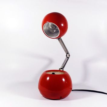 Vintage Red Windsor Eyeball Lamp by BMTvintage on Etsy