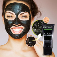Women Men Deep Cleansing Purifying Peel Off Mud Blackhead Face Mask Black Mask Remove Black Head Makeup Beauty +Summer Necklace