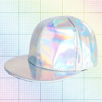 Holographic Snapback Hat