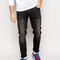 ASOS | ASOS Skinny Jeans In Washed Black at ASOS