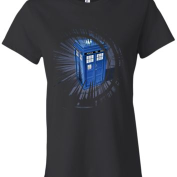 tardis ladies tshirt