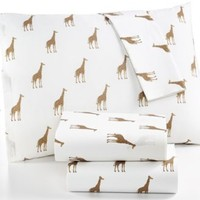 Martha Stewart Collection Whim Novelty Print 200 Thread Count Whim Printed Sheet Set | macys.com