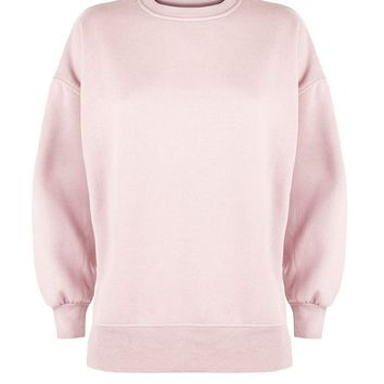 Shell Pink Slouchy Split Side Sweater | New Look