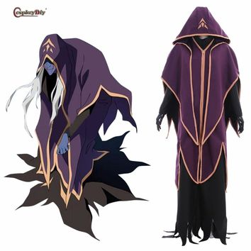 Cosplaydiy Voltron: Legendary Defender Cosplay Witch Haggar Hag Costume Women Man fancy Dress Halloween Anime convention Outfits
