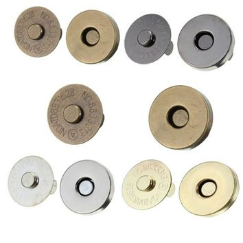 50set Magnetic Snap Fasteners Clasps Buttons Handbag Purse Wallet Craft Bags Parts Accessories 14mm 18mm Pick Colors