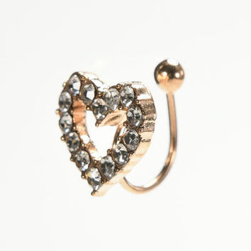 Starfish Ear Cuff Chic Heart Clip Earring s Women Crystal Star Clip Earing SM6