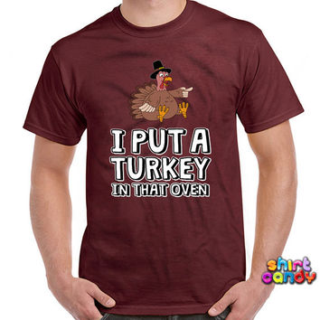 Thanksgiving Pregnancy Announcement Matching Shirts For Couples Expecting Father Turkey T-Shirt Dad Announcement Holiday Mens Tee DN-180