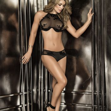 Hottest Halter Lace Bra and Panty Set