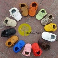 Baby Leather Moccasins 33 Colors