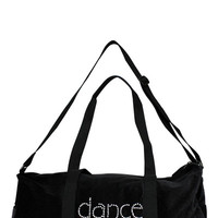 Girl Junk Black Velvet Dance Duffel Bag | Mod Angel