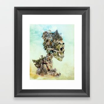 Nature Skull Framed Art Print by RIZA PEKER