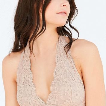 2 Pcs Set Intimate Halter Lace Bralette