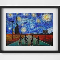 Stranger Things Van Gogh Starry Night Print - A2 A3 A4 - FREE Shipping - 4 for 2 | eBay