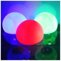 5PCS LED Mood Light Garden Deco Flashing Ball RGB Color Change Floating Light for Pool Ponds&Parties