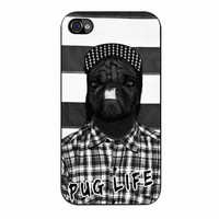 Funny Pug Life 2 iPhone 4/4s Case