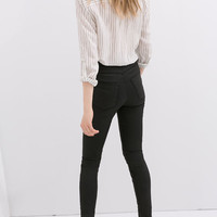 HIGH WAIST COATED TROUSERS