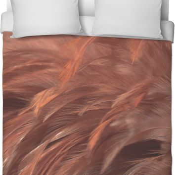 Copper Feathered Duvet Cover