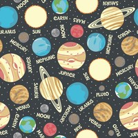 Novelty Cotton Fabric- Glow In Dark Planets at Joann.com