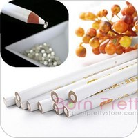 $1.99 2pcs Easily Picking Up Rhinestone Picker Wax Pen - BornPrettyStore.com