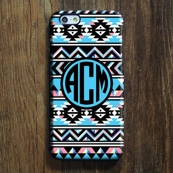 Retro Aztec Monogram iPhone 6s Case iPhone 6 plus Case Custom Initials iPhone 5S Case iPhone 5C Case iPhone 4 Case Tribal Galaxy S6 Case 105