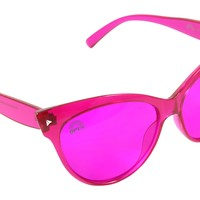Magenta Lens / Cat Eye Frame
