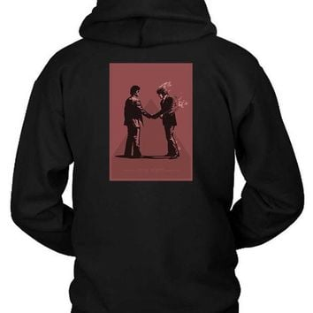 CREYH9S Pink Floyd Wish You Were Here Vektorize Version Hoodie Two Sided