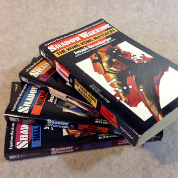Collection 4 Paperback Editions of Shadow Warrior by Joseph Rosenberger - From a private collection, books number 1,2,3, and 4