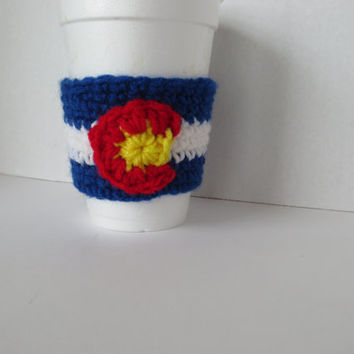 Colorado Flag - Cup Cozy - Barista Cozy - Colorado love - Colorado Native