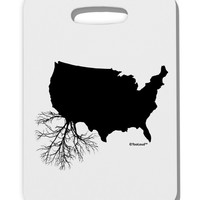 American Roots Design Thick Plastic Luggage Tag by TooLoud
