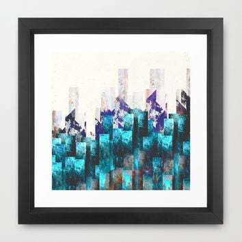 Cold cities Framed Art Print by HappyMelvin