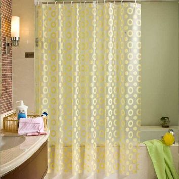Luxury Shower Curtain PEVA Mold Proof Waterproof Eco-friendly Endless Curtains Bathroom Hanging Door Curtain Bath Curtains