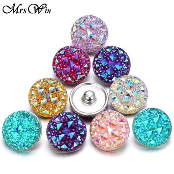10 pcs/lot Christmas Snap Button Jewelry Mixed Style Ginger Resin 18mm Snap Buttons fit Snap Bracelet Bangles