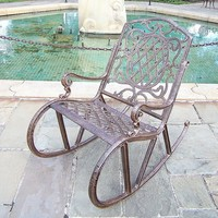 Oakland Living Lattice Rocking Chair - Outdoor (Bronze)