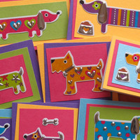 Dog Mini Cards (set of 5) colorful