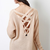 Criss Cross Back Sweater Top