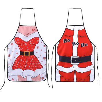 Christmas Santa Claus Cute Funny Kitchen Apron Patterns Cooking Chef