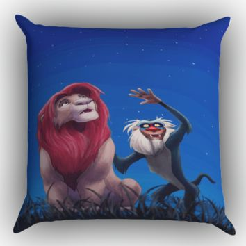Lion King stars X0256 Zippered Pillows  Covers 16x16, 18x18, 20x20 Inches